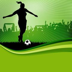 Fußballspielerin Flyer