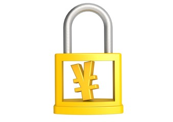Yen in padlock
