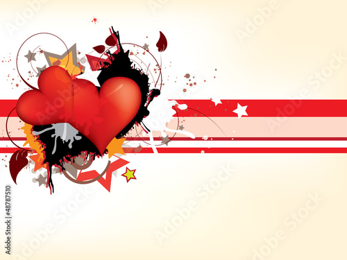 Gringe abstract background with hearts