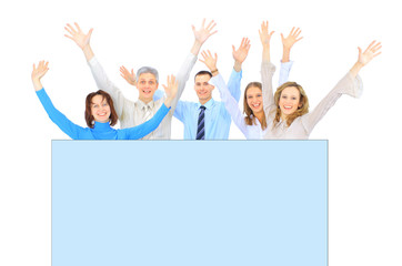A group of business people to conduct