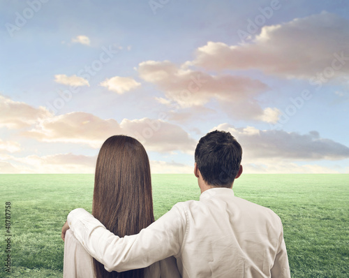couple looking landscape
