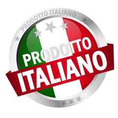 """Button mit Banner """"PRODOTTO ITALIANO"""""""