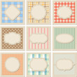Vintage patterned card templates set.
