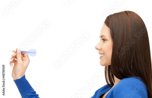 businesswoman with dart