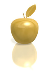 Golden Apple with leaf