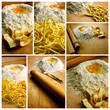 Italian fresh pasta photo composition