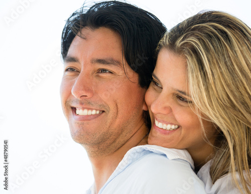Couple portrait smiling