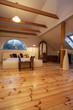 Cloudy home - wooden bedroom