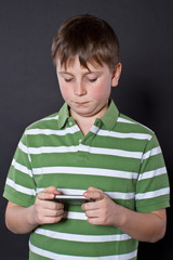 Teen playing on the phone