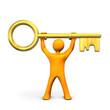 Manikin Golden Key