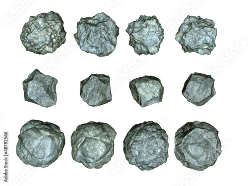 stones asteroids illustration