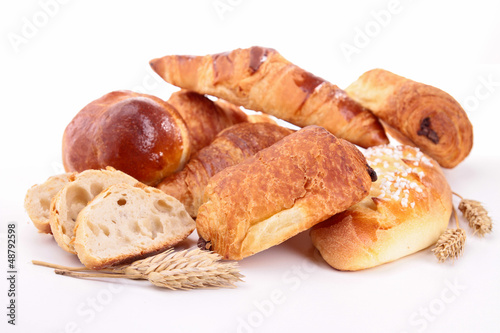 isolated assortment of pastries