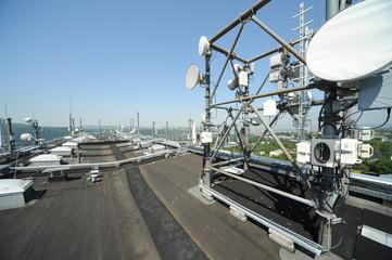Antennenanlage auf Hochhausdach in Koblenz