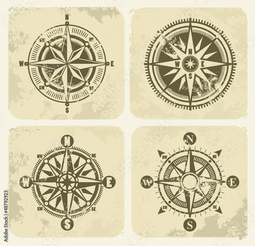 vintage compasses