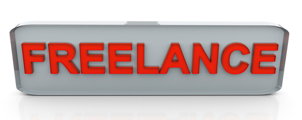 3d text 'freelance'
