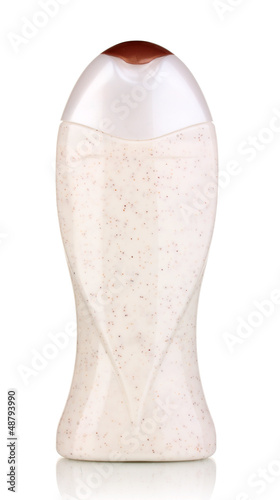cosmetic bottle isolated on  white