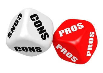 Pros and cons dices