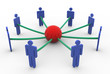 3d business network concept