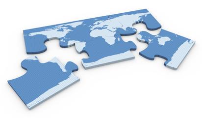 3d world map puzzle