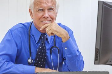 Senior Male Doctor With Stethoscope