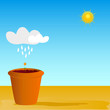 flowerpot vector illustration