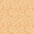Vintage beige ethnic background with doodles