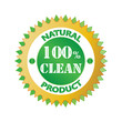 Vector Green 100 % Natural Label .