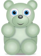kleiner grüner Teddybär