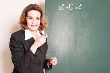 freundliche Lehrerin