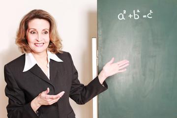 nette Mathelehrerin