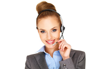 Beautiful receptionist or secretary