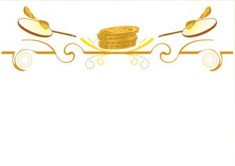 Frise chandeleur - Pile de crêpes - Chandeleur
