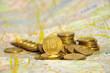 монеты на карте