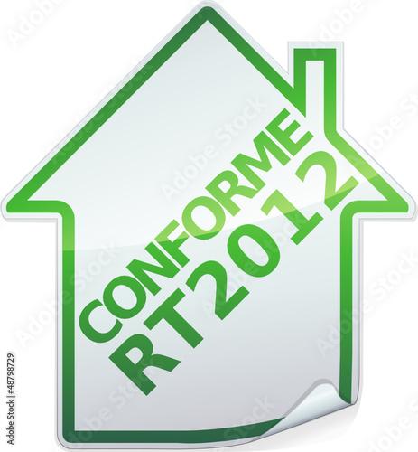 Sticker des bâtiments conforme RT 2012 (détouré)