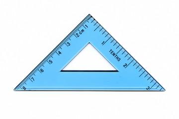 Transparent triangle ruler