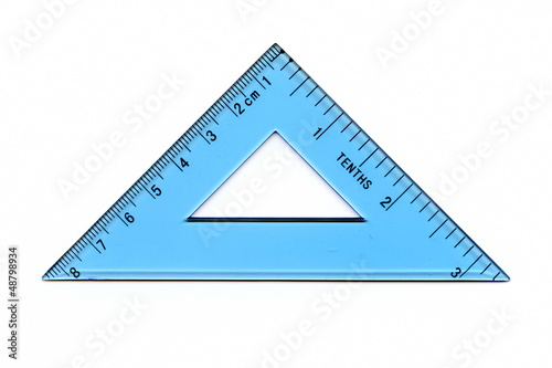 Transparent triangle ruler