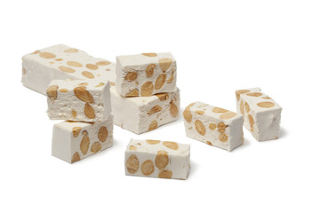Nougat with almonds and pistachio nuts