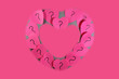 Pink adhesive love notes