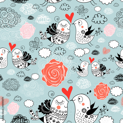 texture of love birds