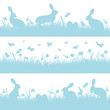 3 Blue Easter Header Meadow Bunny