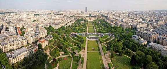 view of champ de mars park with military school