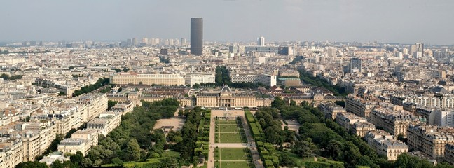 Champ de mars park with military school