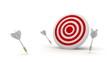 Darts in target.