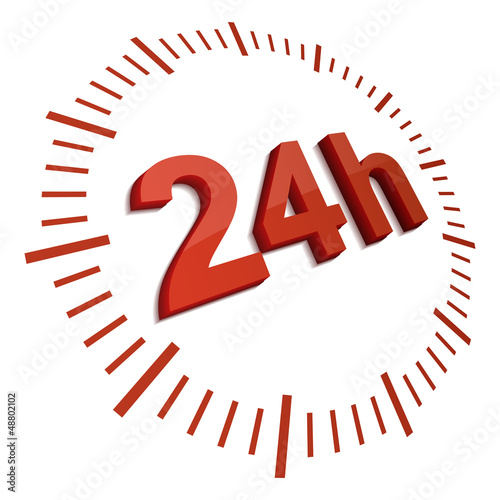 24 hrs red