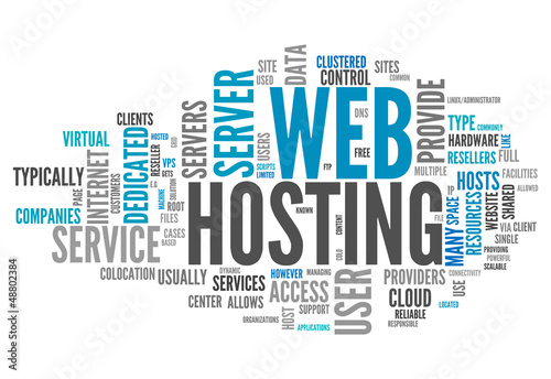 "Word Cloud ""Web Hosting"""