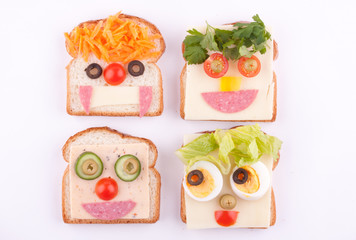 face on bread for kids