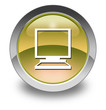 "Yellow Glossy Pictogram ""Desktop Computer"""