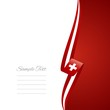 Swiss right side brochure cover vector.