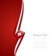 Swiss left side brochure cover vector