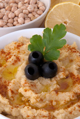 A bowl of hummus